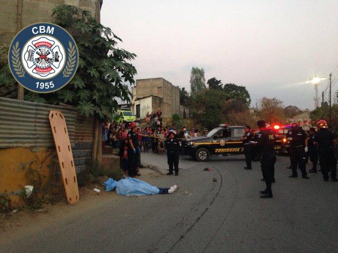 Lugar donde murió baleado Víctor Manuel Rojas, 20, presunto pandillero de la Mara Salvatrucha. (Foto Prensa Libre: CBM)