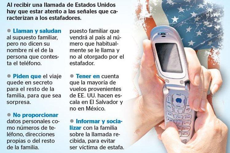 Delincuentes engañan a familiares al simular voz de parientes. (Infografía Prensa Libre: Benildo Concogua)