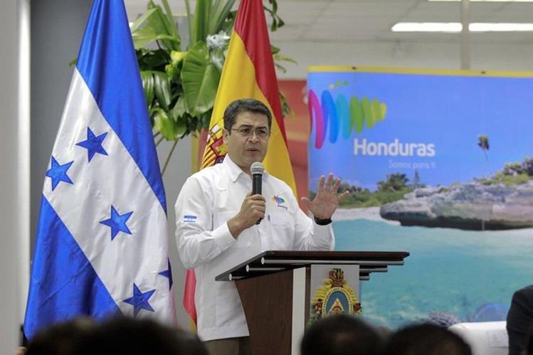 Juan Orlando Hernández, presidente de Honduras. (Foto Prensa Libre: EFE)