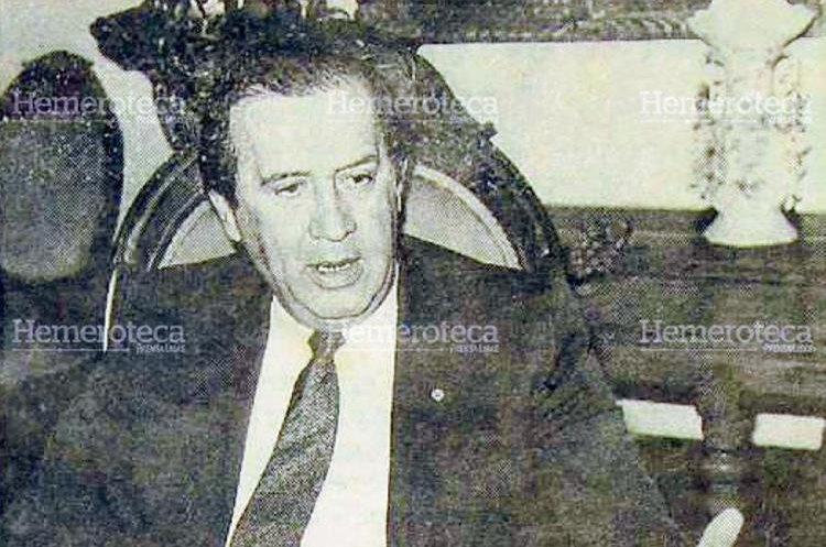 Jorge Carpio Nicolle, asesinado el 3 de julio de 1993. (Foto: Hemeroteca PL)