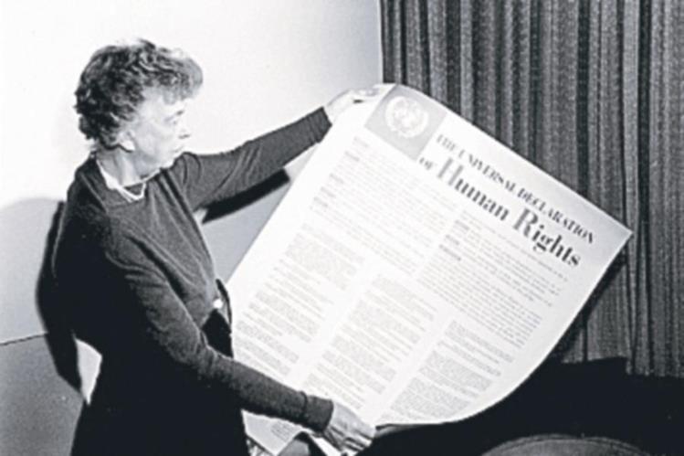 Eleanor Roosevelt en 1948. (Foto: Hemeroteca PL)