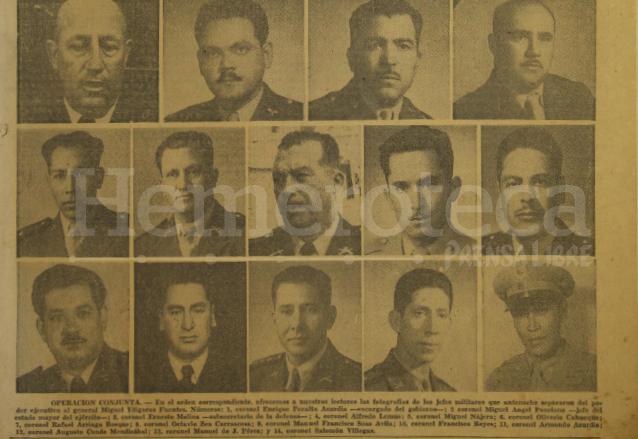 Participantes en el golpe de Estado de Peralta Azurdia. (Foto: Hemeroteca PL)
