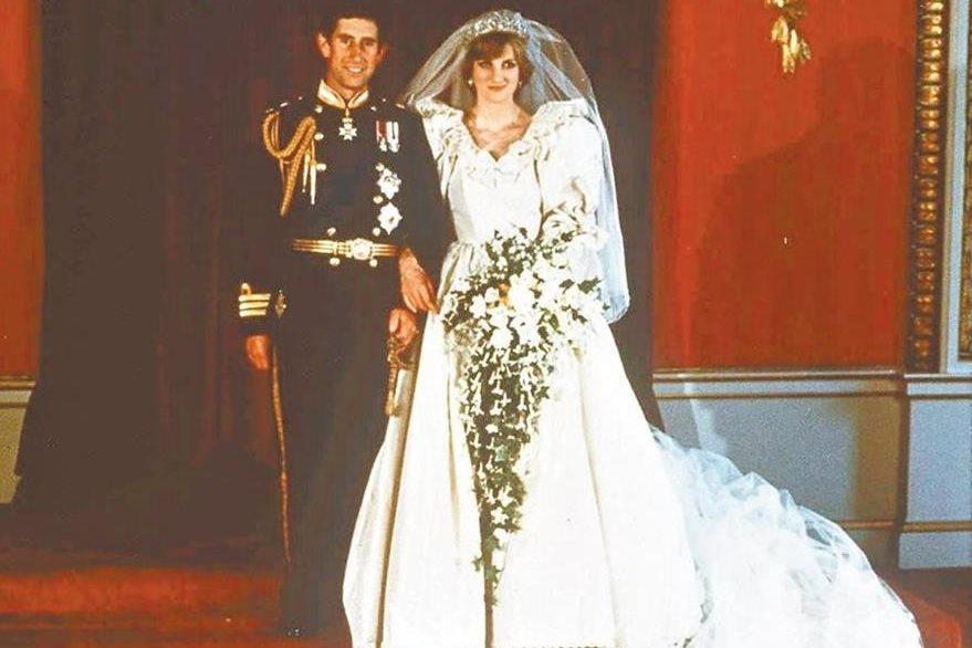 Foto oficial de la boda de Carlos y Diana en 1981. (Foto: Hemeroteca PL)