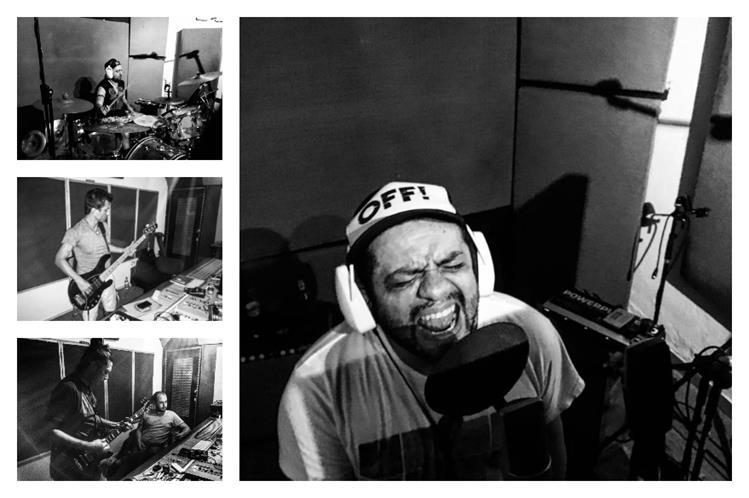 La banda guatemalteca Viernes Verde grabó el nuevo álbum en el estudio Yuka N' Roll en Barranquilla, Colombia. (Foto Prensa Libre: Edgar Lara)