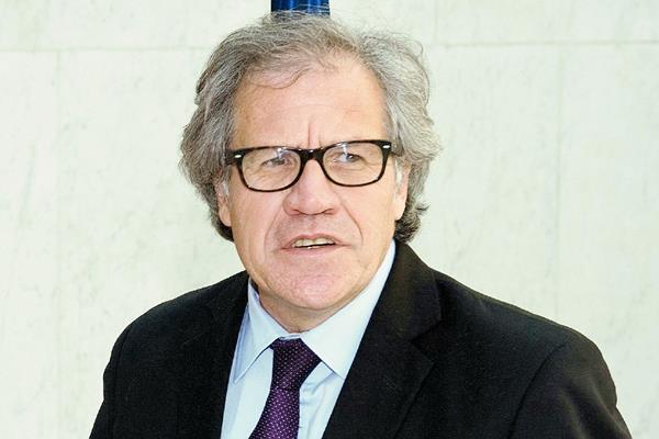 El secretario  general de la OEA, Luis Leonardo Almagro Lemes, en Washington DC. (Foto Prensa Libre:EFE).