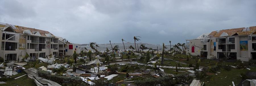 Por el momento las Islas San Martín y Antigua y Barbuda son los lugares más golpeados por el huracán Irma.