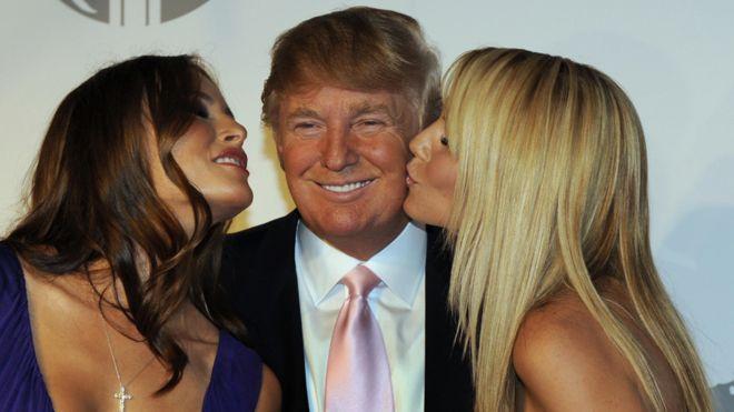 Trump fundó una agencia de modelos en 1999 y organizó durante años los concursos de Miss Universo. (Getty Images)