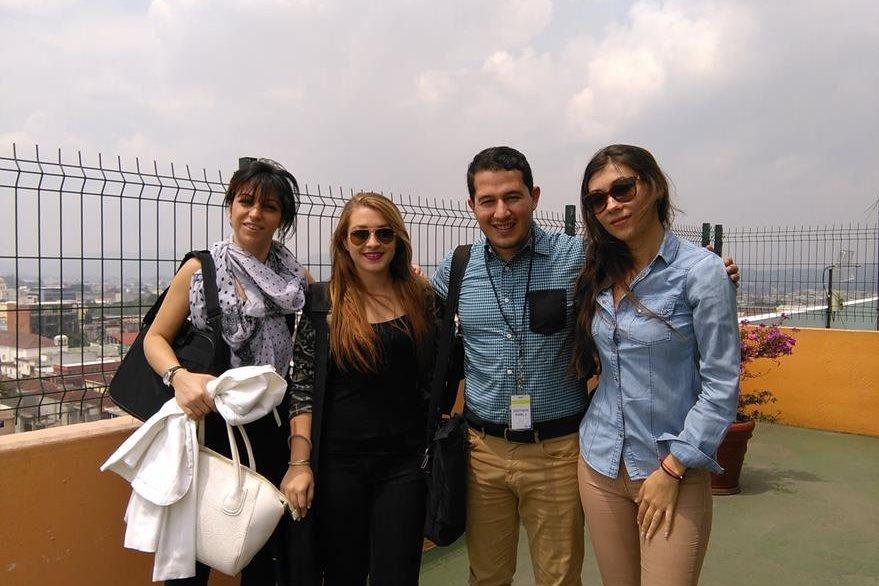 Kristiana Ilieva, Natalia Cincunegui, Marco Aguilar y Betina Pavlova. (Foto Prensa Libre: Josué León)