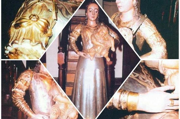 Virgen del rosario maravilla de arte y devocin detalles de la virgen del rosario sin sus vestiduras mostrando su valiosa belleza fundida en thecheapjerseys Gallery
