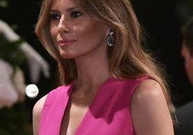 Melania Trump, esposa del presidente de EE. UU., Donald Trump. (Foto Prensa Libre: AFP).