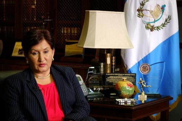 Congresistas de Estados Unidos respaldan gestión de la fiscal general, Thelma Aldana. (Foto Prensa Libre: Hemeroteca PL)