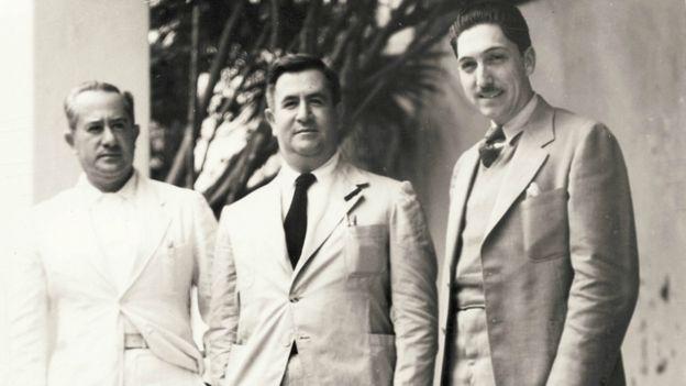 Manuel Ávila Camacho (centro) fue elegido presidente con la asistencia financiera de Jenkins. CORTESÍA ACERVO FERNÁNDEZ CHEDRAUI