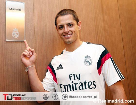 Javier Hernández se mostró feliz en su presentación con el club merengue el pasado septiembre. (Foto Prensa Libre: Real Madrid.com)
