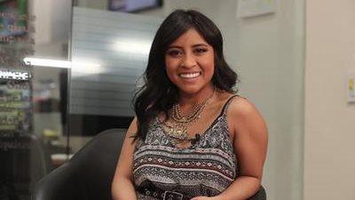 La ganadora de La Academia, Paola Chuc, visitó la redacción de Prensa Libre (Foto Prensa Libre: Juan Diego González).