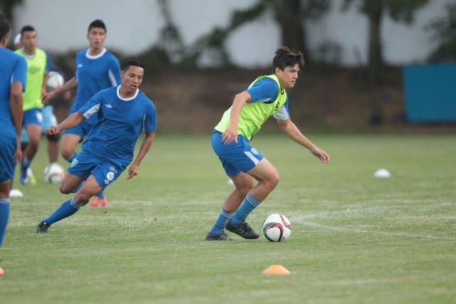 Los seleccionados se presentaron hoy al Proyecto Goal para comenzar el morfociclo de la Bicolor. (Foto Prensa Libre: Norvin Mendoza)