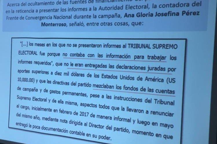 Contadora de FCN Nación no habría asistido a reunión del TSE para verificar hallazgos. (Foto Prensa Libre: MP)