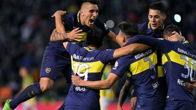 Boca tuvo altibajos, pero al final fue el equipo más regular y justo campeón. AFP