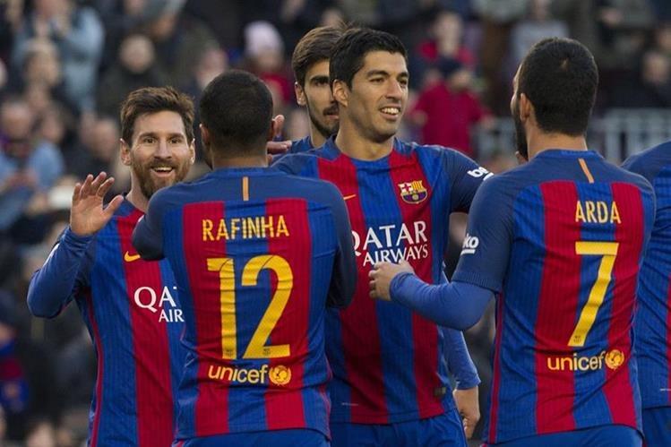 Suárez sigue imparable en La Liga y esta tarde sumó dos goles a su cuenta goleadora. (Foto Prensa Libre: AFP)