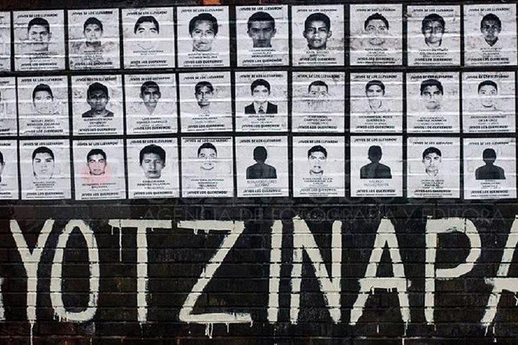 Fotos de los 43 estudiantes desaparecidos en 2014 en Ayotzinapa,en Iguala, Guerrero.