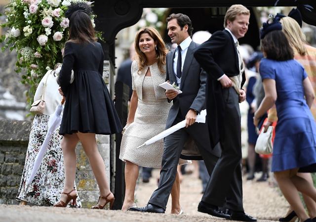 Roger Federer junto a su esposa Mirka. (Foto Prensa Libre: AFP).
