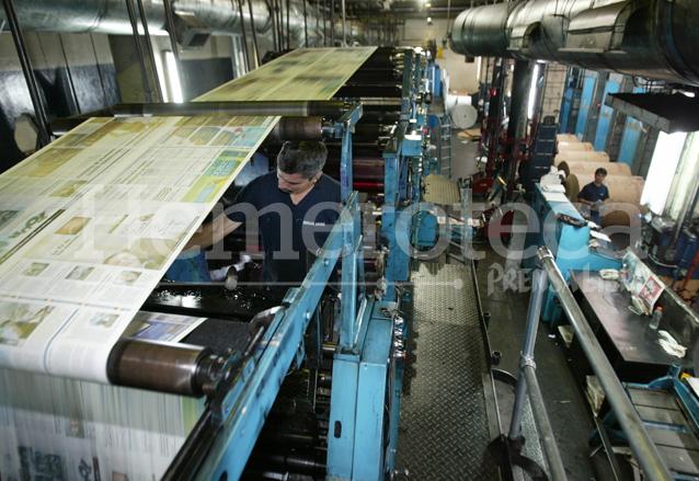 Talleres de impresión de Prensa Libre. (Foto: Hemeroteca PL)