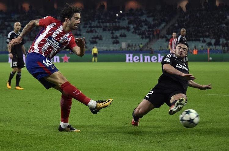 El Atlético de Madrid no consiguió superar al Qarabaj de Azerbayan y es tercero de su grupo. (Foto Prensa Libre: AFP)