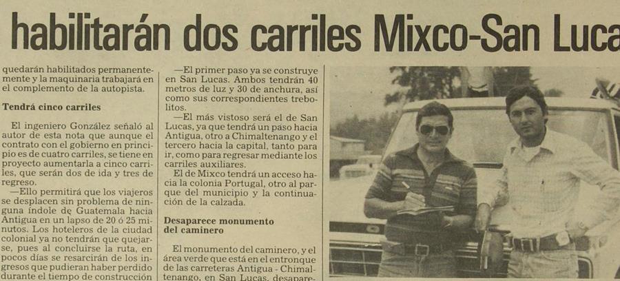 04/05/1981 Portada de Prensa libre daba a conocer sobre la construccion de carretera. (Foto: Hemeroteca PL)