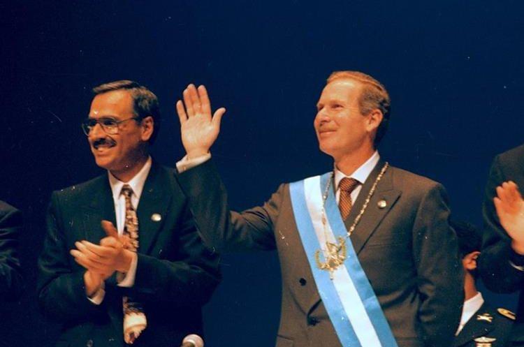 Álvaro Arzú Irigoyen fue presidente de Guatemala de 1996 al año 2000.