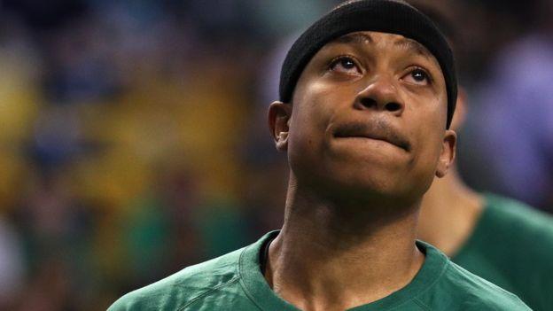 Thomas jugó el primer partido de los play-off contra Chicago al día siguiente de la muerte de su hermana. (Getty)