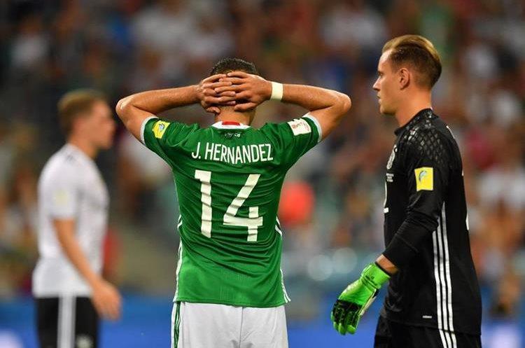 """Javier """"el Chicharito"""" Hernández quedó en deuda con la selección de México. (Foto Prensa Libre: AFP)"""