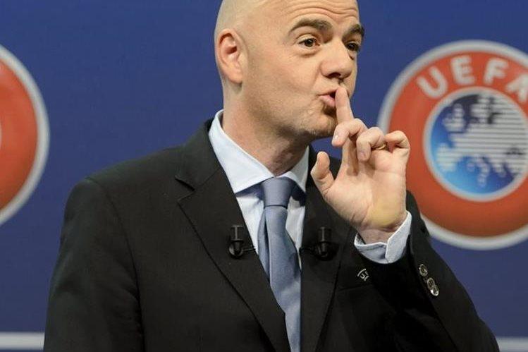Gianni Infantino, presidente de la Fifa y anterior directivo de la Uefa. (Foto Prensa Libre: EFE).