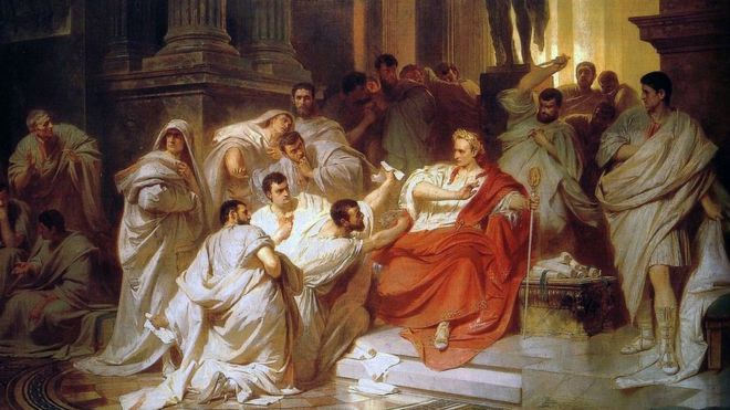 El momento de la traición, interpretado por el artista del siglo XIX Carl Theodor von Piloty. DOMINIO PÚBLICO