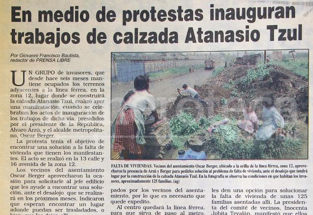 Nota periodistica del 24/08/1996. (Foto: Hemeroteca PL)