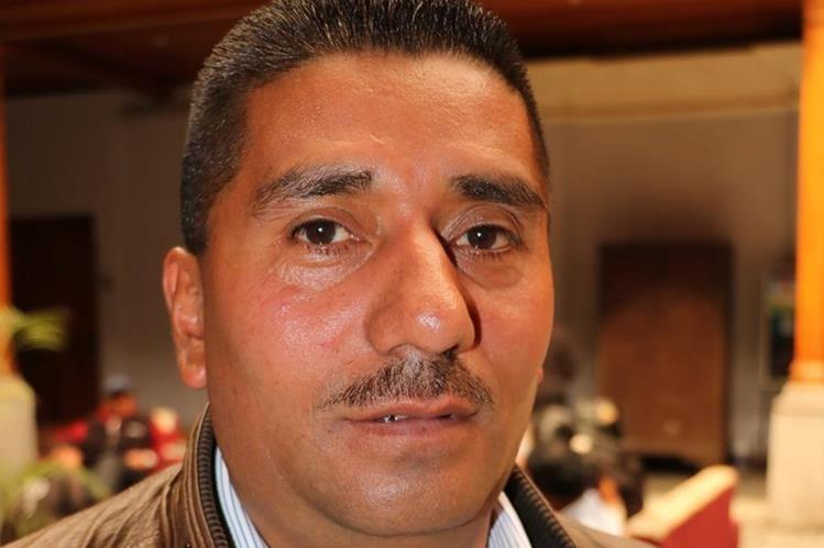 Wilmin Morales Castillo, alcalde de Palestina de Los Altos, resultó herido con arma cortante. (Foto Prensa Libre: Carlos Ventura)