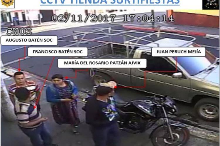 Los sospechosos fueron captados en la colonia La Florida, zona 19, en horas de la tarde del sábado 11 de febrero. (Foto Prensa Libre: Ministerio Público).