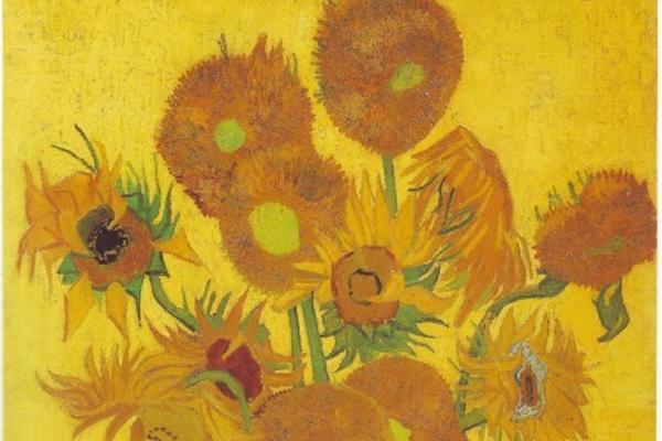 Van Gogh  pintó tres versiones de Los girasoles.