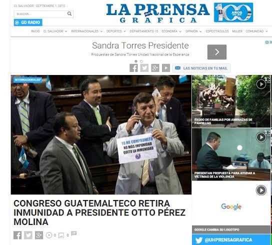 LA PRENSA GRAFICA DE EL SALVADOR.
