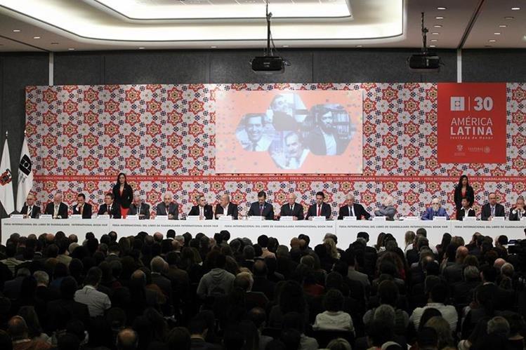 Acto de inauguración de la FIL Guadalajara. (Foto Prensa Libre: EFE)