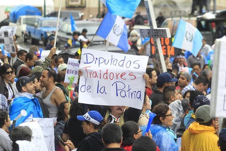 Las movilizaciones anunciadas se realizarán en la capital y en las cabeceras departamentales de todo el país. (Foto Prensa Libre: Hemeroteca PL)