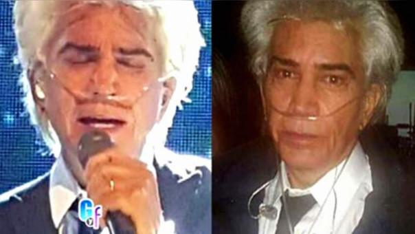 José Luis Rodríguez El Puma padece de fibrosis pulmonar desde el 2000. (Foto Prensa Libre: El Gordo y La Flaca)