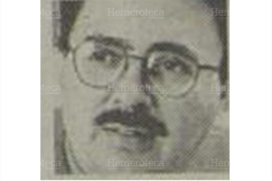 Byron Vásquez, columnista de Prensa Libre en 1998. (Foto: Hemeroteca PL)