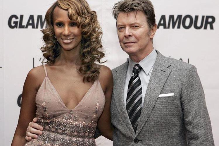 Iman participó en varios eventos junto a David Bowie. (Foto Prensa Libre: AFP)