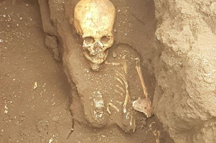 Una de las más de 60 osamentas encontradas. (Foto: Carlos García)