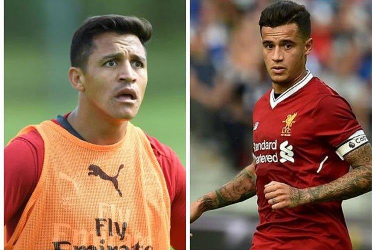 Alexis Sánchez podría dejar el Arsenal y unirse al Mánchester City. Mientras Coutinho está por llegar al Barsa. (Foto Prensa Libre).