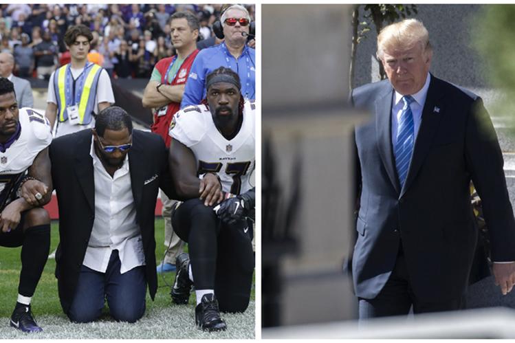 Donald Trump continúa en controversia en contra de los jugadores de la NFL. (Foto Prensa Libre: AP)
