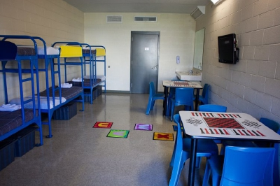 Recinto del Centro de Detención para inmigrantes del Condado de Karnes. (Foto Prensa Libre: barriozona.com)