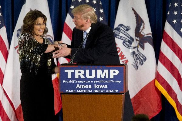 Sarah Palin da su apoyo a Donald Trump para ser presidente.