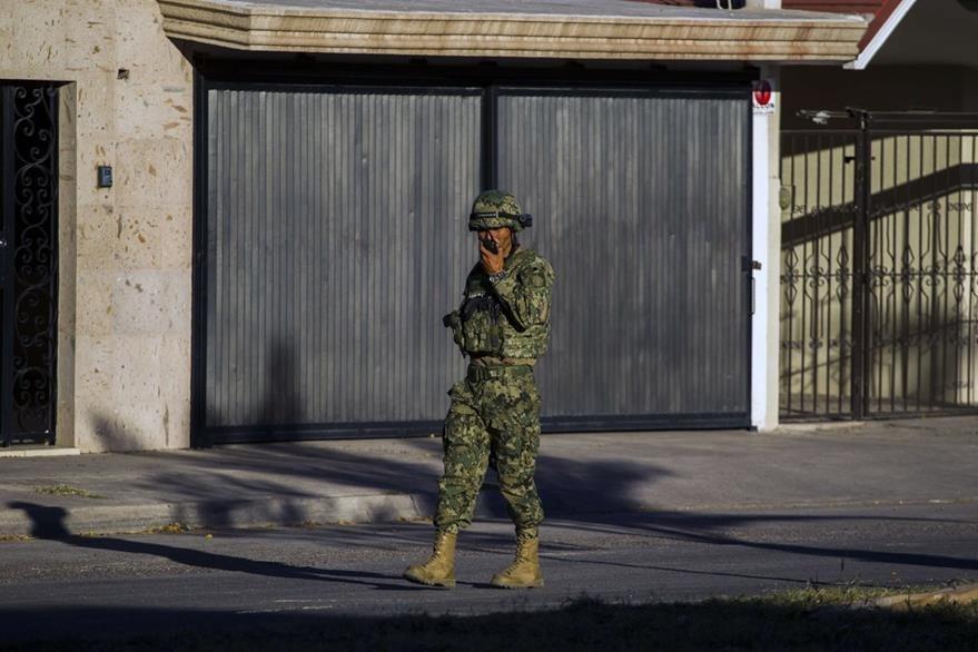 Continúa la vigilancia en Los Mochis, Sinaloa, donde se capturo a Guzmán. (AFP)