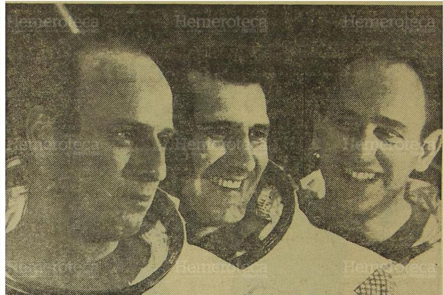 Los astronautas  de la nave espacial Apolo 12, Charles Conrad, Richard Gordon y Alan Bean. (Foto: Hemeroteca PL)