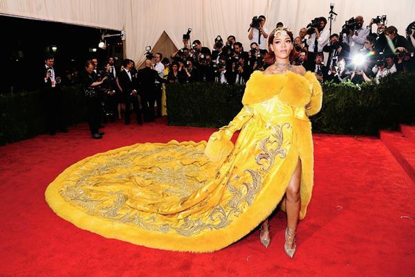 Rihana llegó  al Metropolitan Museum  en Nueva York a  para celebrar  la gala  Met. (Foto Prensa Libre: AFP)